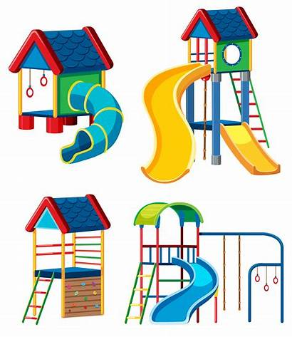 Playground Vector Equipment Cubby Vectors Clipart Clip