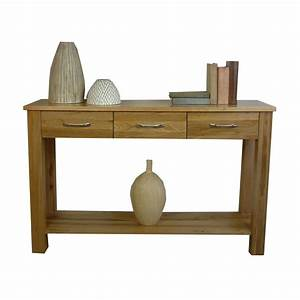 Baumhaus Mobel Solid Oak Console Table COR02C