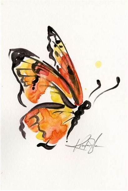 Monarch Painting Butterfly Watercolor Drawing Watercolour Brushstroke