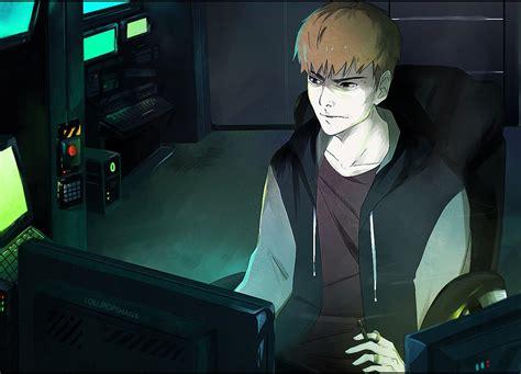 anime hackers hacker by lollipopshana on deviantart