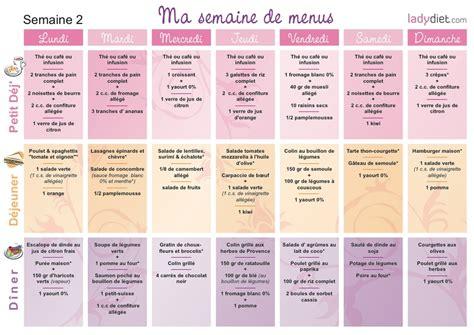 menu semaine cuisine az recette regime 2 semaines cuisinez pour maigrir