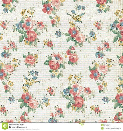 Rose Floral Wallpaper Shabby Chic Dannata Fotografia