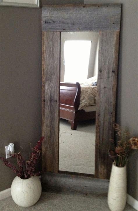 Full Length Barn Wood Mirror  Home Decorating Diy