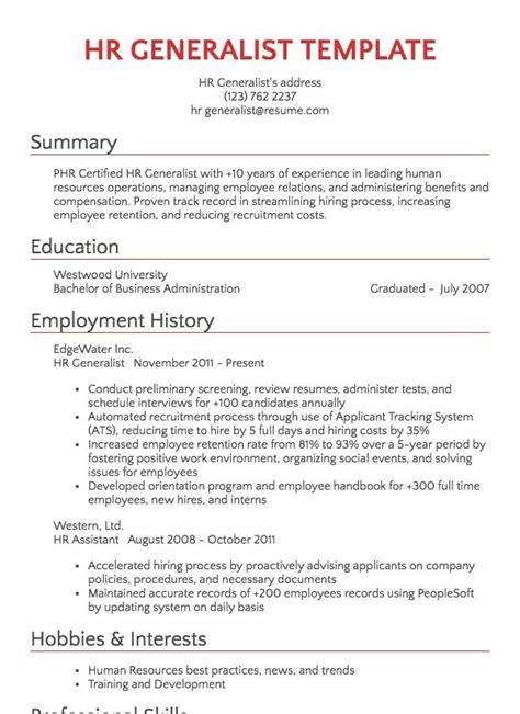 recruiter resume sample resumecom