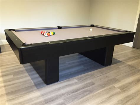 olhausen monarch in black with grey cloth snooker pool