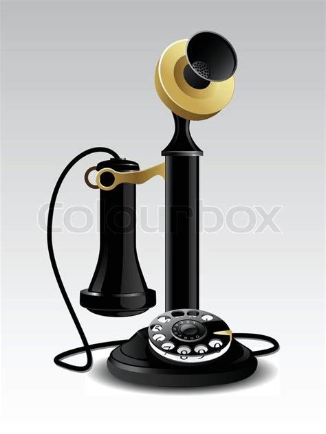 vector vintage telefon stock vektor