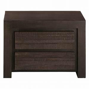 Table De Chevet Wengé : table de chevet avec tiroirs en manguier massif l 50 cm ~ Teatrodelosmanantiales.com Idées de Décoration