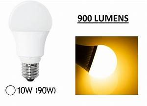 Ampoule Led 220v : 1 ampoule led maison e27 10w 220v 900 lumens couleur ~ Edinachiropracticcenter.com Idées de Décoration