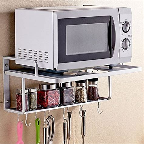 microwave wall shelf spacecare bracket alumimum microwave oven wall