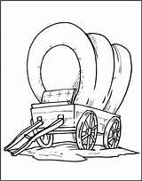 Wagon Pioneer Drawing Coloring Covered Getdrawings sketch template