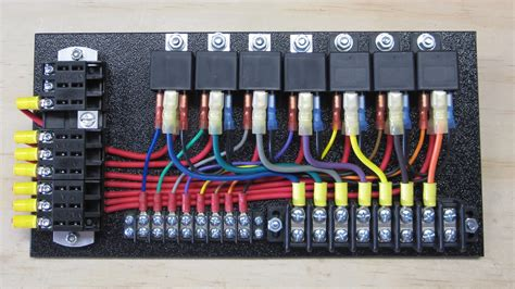 7 relay panel w push ons ce auto electric supply