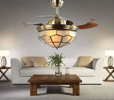 stealth  fans dimmer led european bronze chandelier