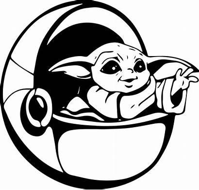 Yoda Pod Vector Mandalorian Drawing Silhouette Wars