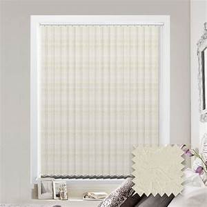 Made, To, Measure, Vertical, Blind, In, Diamond, Busy, Pattern, Cream, Fabric