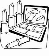 Coloring Pages Cosmetic sketch template