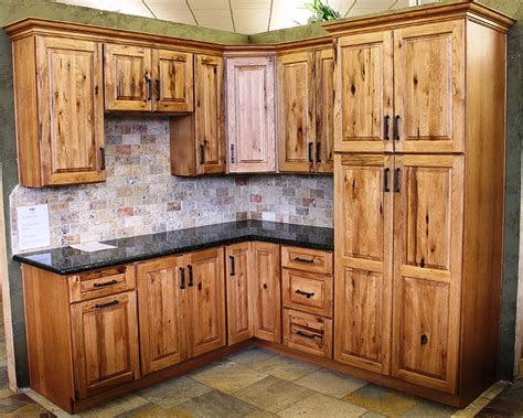 knotty hickory kitchen cabinets specialty cabis cabi outlet rustic hickory cabinets in 6671