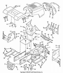 Poulan Pp1338 Tractor Parts Diagram For Chassis And Enclosures