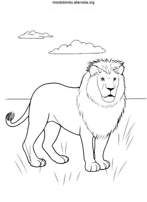 leoni da colorare mondo bimbo