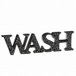 Diamante Word Stand - Wash Home Decor, Home Accessories