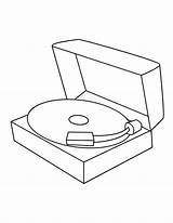 Record Player Template Coloring sketch template