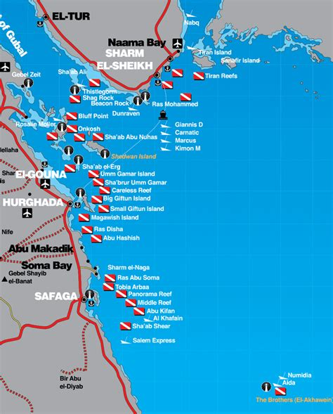 red sea dive maps