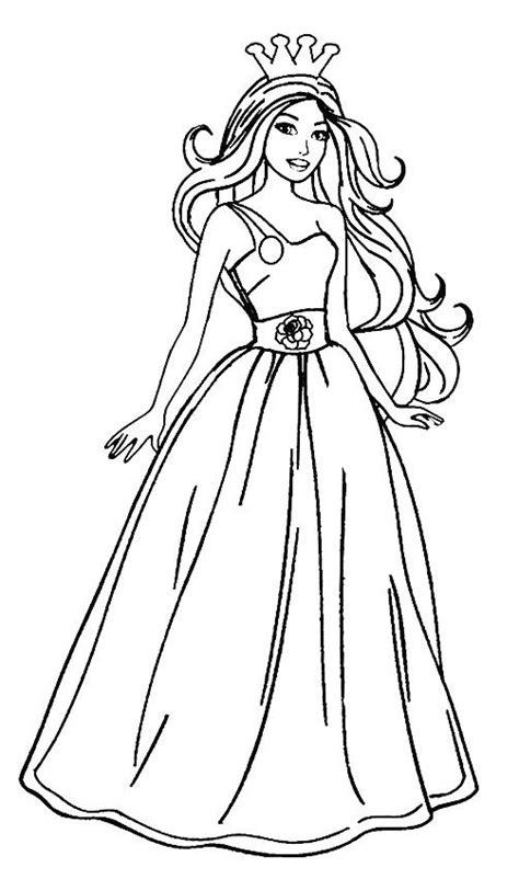 Barbie Princess Coloring Pages Barbie drawing Princess
