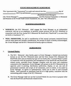 9 management agreement templates free sample example for Event management agreement template