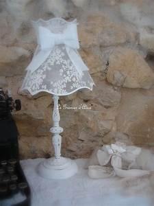 Shabby Chic Lampen : lampe poser avec son abat jour shabby chic lampen ~ Orissabook.com Haus und Dekorationen