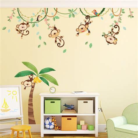 Kinderzimmer Ideen Dschungel by Dschungel Wandtattoo Affe F 252 R Das Kinderzimmer