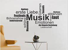 Wandtattoo Musik Wortwolke Begriffe WANDTATTOODE