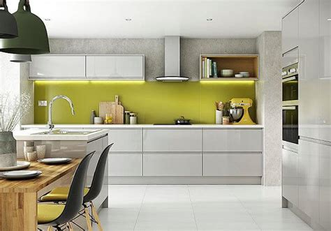 light grey gloss kitchen green with envy the kitchen think 6991