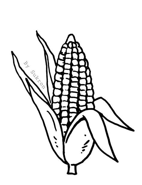 mewarnai gambar jagung untuk anak tk