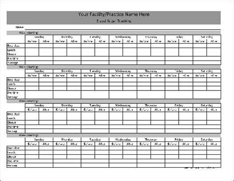 daily glucose log sheet   preview