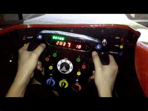homemade ferrari  steering wheel cockpit youtube