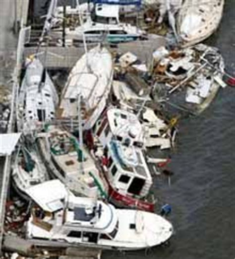 Boats Damaged By Hurricane Florence by Bahamas Haul Out Via Dock For Bradford Marine Bahamas