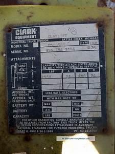 Clark Model C500 S60 Fork Lift Truck