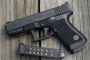 Glock 19, with grip stippling. Functional way to increase ...
