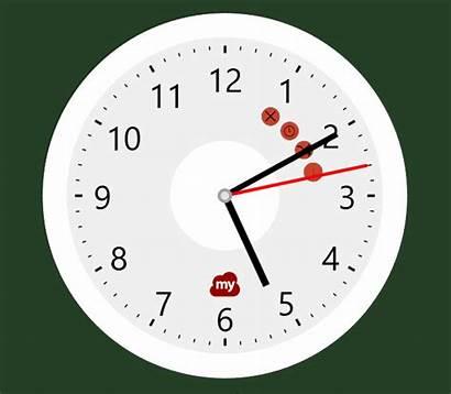 Uhr Magic Rand Verkleinern Ziehen Klicken Vergroessern