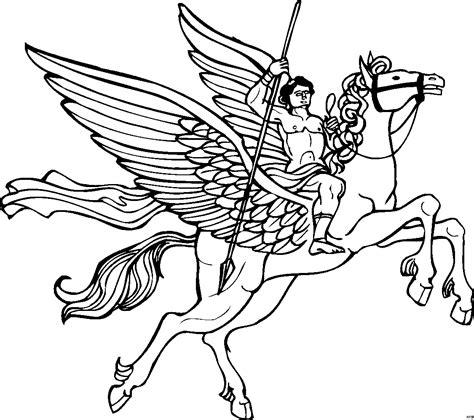 herkules mit pegasus ausmalbild malvorlage phantasie