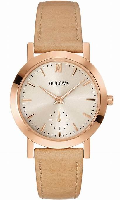 Bulova Classic Leather Stainless Steel Uhren