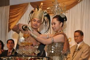 wedding attire iban customs  land  hornbill