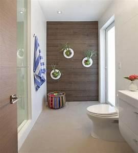 Deko Für Badezimmer : zimmerpflanzen deko bad modern wand fliesen holz optik ideen zimmerpflanzen pflanzen und ~ Watch28wear.com Haus und Dekorationen