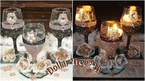 diy dollar tree bling candle holder glam wedding