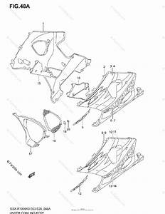 Suzuki Motorcycle 2003 Oem Parts Diagram For Under Cowling