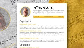 free resume template for the the vintage