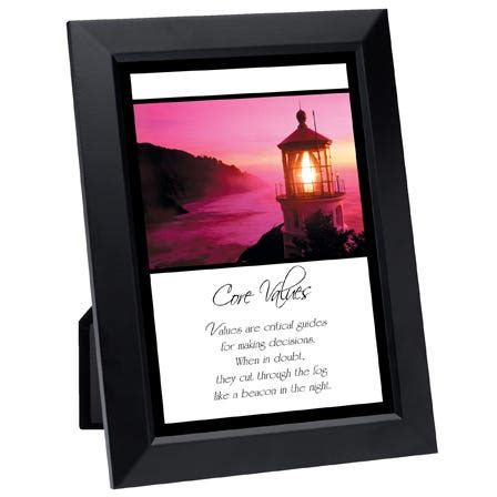 core values framed inspirational print simple truths