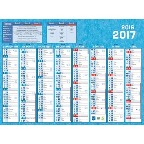 catalogue maroc bureau calendriers bouchut grandrémy calendrier 2017 16 mois