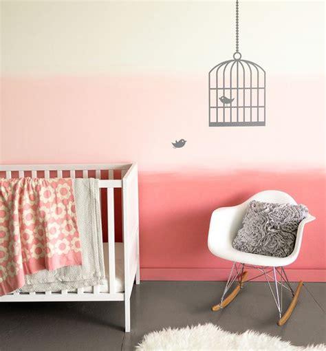 peinture mur chambre bebe peinture tendance dégradé pastel dans la chambre bébé