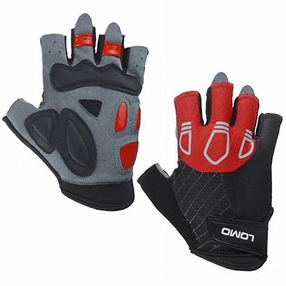 Gloves Finger Cycling Short Grey Mesh Gel