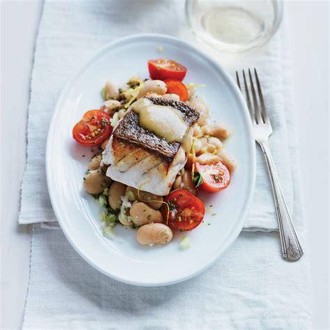 grouper salad butter bean roasted pan tomato recipes recipe fish food court chris wine foodandwine xl